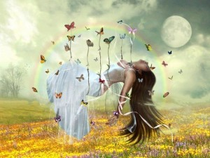 Fairy-lifted by butterflies